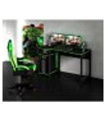 mesa gamer best preta e verde