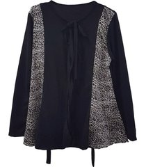 sweater lanilla negro mecano plus size