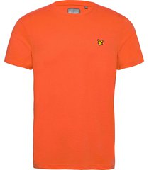back print tee t-shirts short-sleeved orange lyle & scott sport