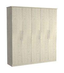 guarda roupa 05 portas 975 marfim areia m foscarini off-white