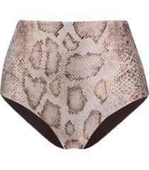 mara hoffman high rise bikini bottoms - brown
