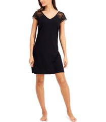 charter club lace-sleeve chemise nightgown, created for macy's