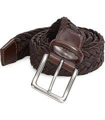 collection braided suede & cotton belt