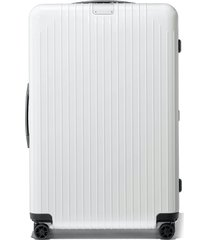 men's rimowa essential lite 31-inch wheeled suitcase - white