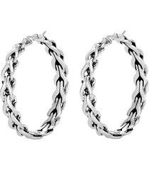 'asli classic chain' silver hoop earrings