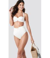 trendyol yol high wasit bikini bottom - white