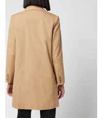 a.p.c. women's collette long blazer - camel - fr 40/uk 12