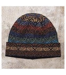 100% alpaca knit hat, 'cusco cathedral' (peru)