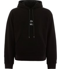 neil barrett oversized hoodie with thunder print