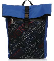 versace jeans rete dis. 1 blue polyester backpack