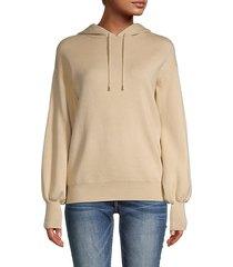 balloon-sleeve drawstring hoodie