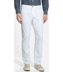 men's ag graduate sud slim straight leg pants, size 42 x 32 - white