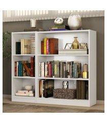 kit madesa estante livreiro 6905 + estante livreiro 6907 - branco branco