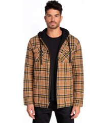 jared lang flannel shirt jacket with hood