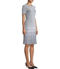 monochrome ottoman knit sheath dress