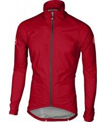 castelli fietsjack men emergency rain jacket red