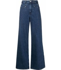 isabel marant lemony wide-leg jeans