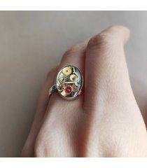 srebrny pierścionek steampunk rozmiar 15