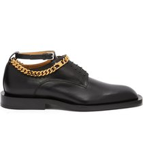 chain leather anklet leather derbies