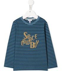 knot space cowboy striped t-shirt - blue
