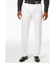 sean john men's classic-fit white linen dress pants