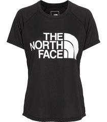 w grap play hard s/s t-shirts & tops short-sleeved svart the north face