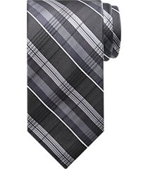 platinum designs black plaid washable narrow tie