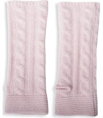 cable-knit cashmere arm warmers