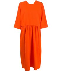 sofie d'hoore drop waist midi dress - orange