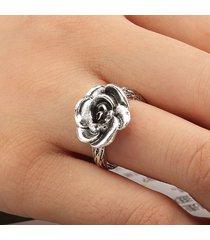 anello vintage con fiore di boemia anello in argento con fiore retrò per le donne