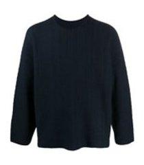 homme plissé issey miyake suéter com padronagem trançada - azul