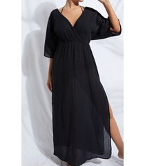 calzedonia interlaced neckline dress woman black size m/l