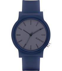 reloj analogo  mono navy azul komono