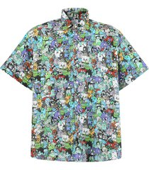 cartoon mania shirt, cold multicolor