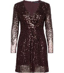 emille sparkle short dress korte jurk paars french connection