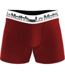 cueca boxer la maths lisa microfibra masculina - masculino
