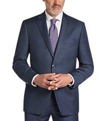 calvin klein heathered blue slim fit suit