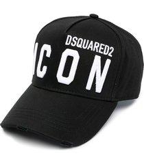 dsquared2 black jersey hat