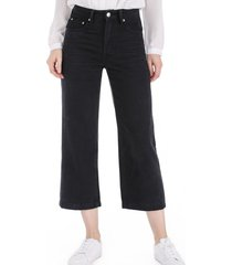 cropped jeans negro nicopoly