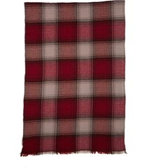 women's isabel marant suzanne check wool & cashmere scarf, size one size - purple
