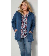fleece vest janet & joyce blauw::zwart