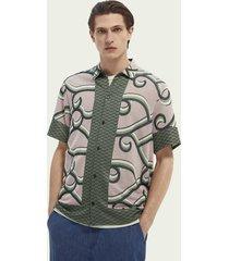 scotch & soda jacquard short-sleeved shirt