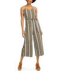 almost famous juniors' striped jumpsuit