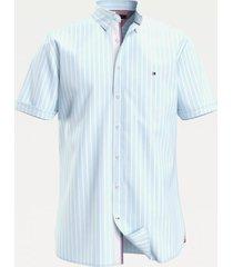 camisa algodón orgánico azul tommy hilfiger