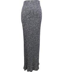 maxi falda tajos costados gris nicopoly