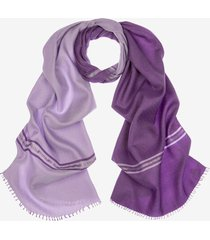 silk and wool scarf purple 1