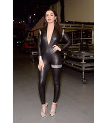 goldens leather women leather jumpsuit real leather catsuit leather romper j-10