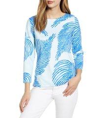 women's vineyard vines boat neck long sleeve performance t-shirt, size x-small - blue/green