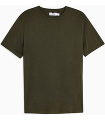 mens khaki forest green classic t-shirt