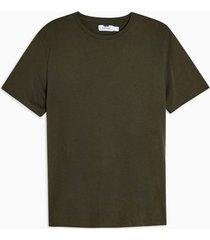 mens khaki forest green classic t-shirt